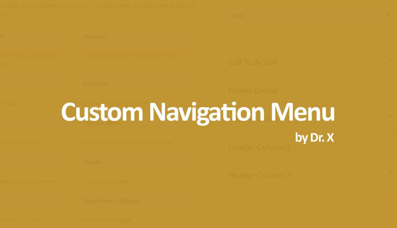 costom navigation menu